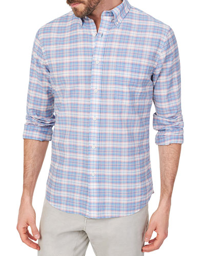Men's Stretch Summer-Blend Sport Shirt, Saugatuck Plaid