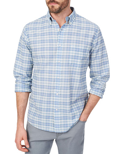 Men's Stretch Summer-Blend Sport Shirt, Ogunquit Plaid
