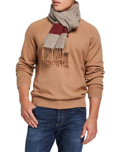 Men's Double-Sided Cashmere Scarf