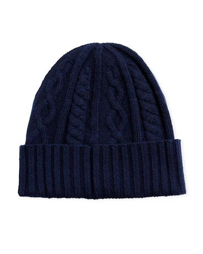e354a98bcf28ff Cashmere Knit Beanie Hat | Neiman Marcus