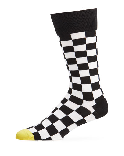 Men's Checkerboard Knit Socks