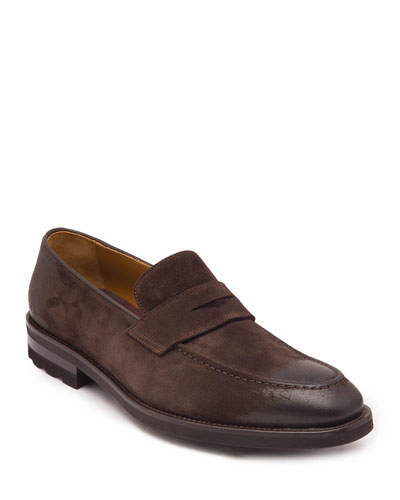 Men's Bryan Suede Penny Loafers