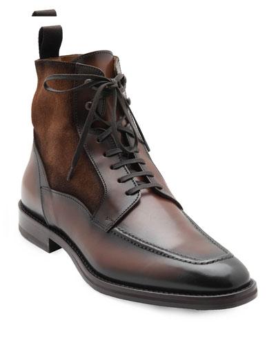Men's Savino Suede/Leather Derby Boots