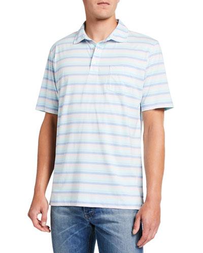 Men's Julian Striped Pocket Polo Shirt