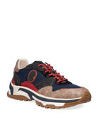 Coach Men's Signature Mixed-Media Dad Sneakers