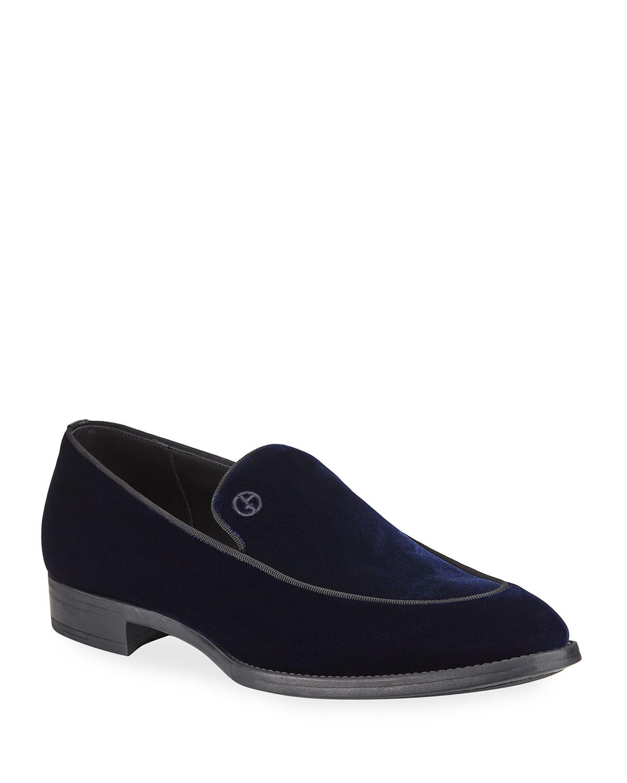Men's Velvet Formal Loafers