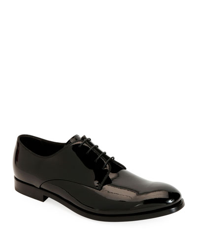 Men's Patent Leather Derby Shoes
