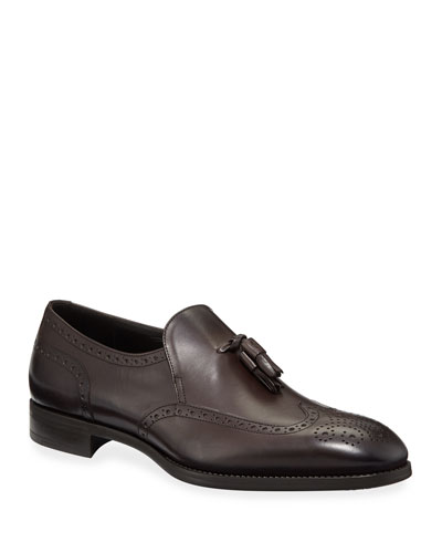 Men's Tassel Wing-Tip Loafers