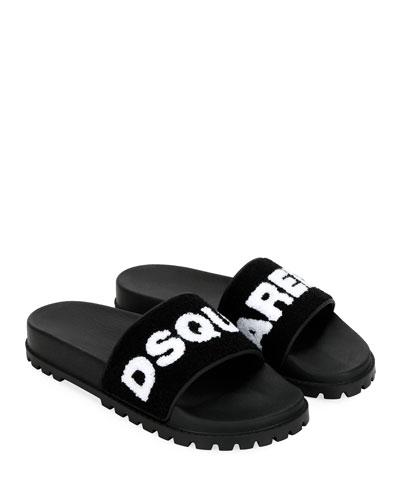 Men's Terry Logo Slide Sandals