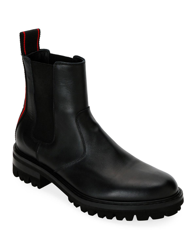 Men's Logo-Web Chelsea Hiking Boots