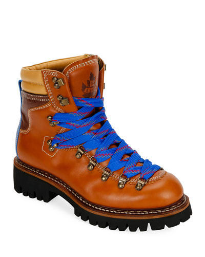 Men's Leather Lace-Up Hiking Boots
