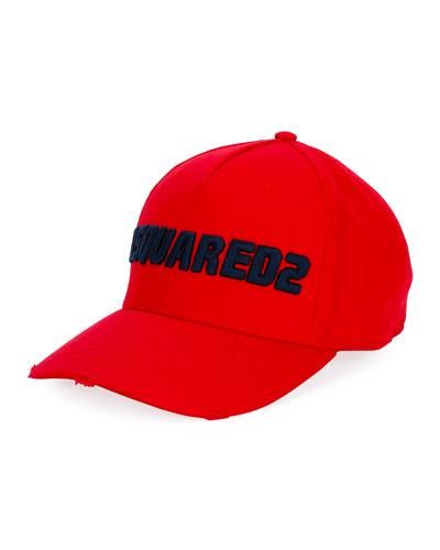 Men's Logo-Embroidered Baseball Cap, Red/Blue