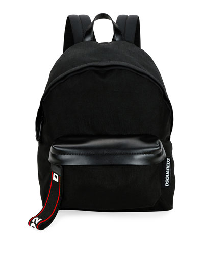 Men's Logo-Tab Nylon Backpack