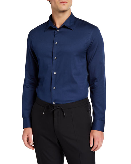Emporio Armani Men's Cotton Sport Shirt