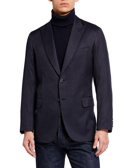 Brioni Men's Double-Face Blazer with Stripes