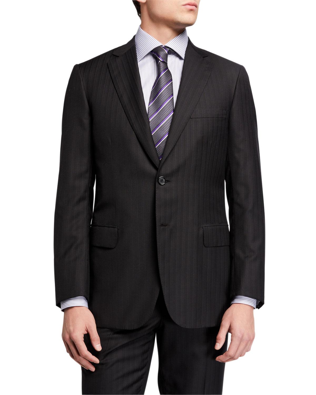 Brioni Suits MEN'S TONAL STRIPED TWO-PIECE SUIT