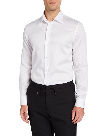 Emporio Armani Men's Cotton Sport Shirt, White