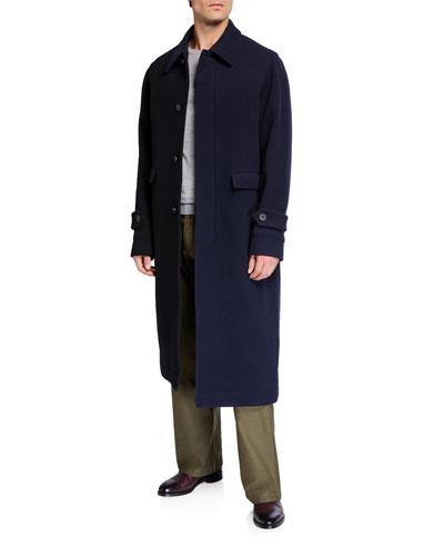 Men's Asymmetric Wool Coat
