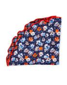 Edward Armah Packard Reversible Floral/Check Pocket Circle,