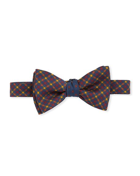 Edward Armah Men's Oliver Plaid Silk Bow Tie