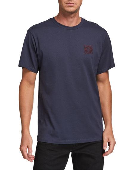 Loewe Men's Anagram Embroidered T-Shirt