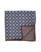 Edward Armah Reversible Medallion Printed Silk Pocket Square,