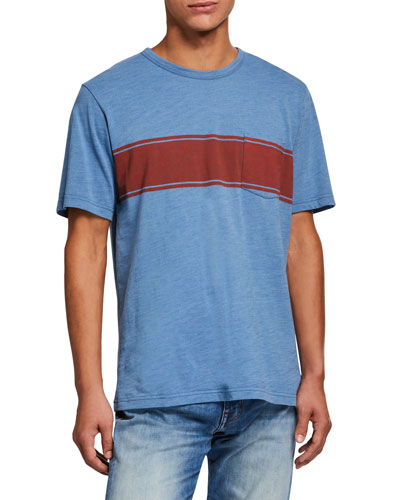 Men's Surf Stripe Pocket T-Shirt