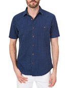 Faherty Men's Coast Block Island Jacquard Button-Down Shirt
