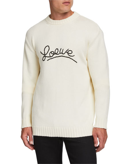 Loewe Men's Logo Stitch Sweater
