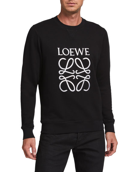 Loewe Men's Anagram Embroidered Sweatshirt