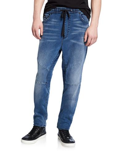 Men's Marco Drawstring-Waist Slim Jeans