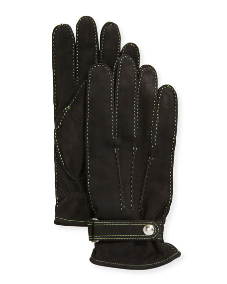 Guanti Giglio Fiorentino Men's Three-Cord Suede Gloves