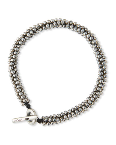 Men's Mini Sterling Silver Jacks Bead Bracelet