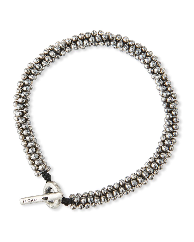 Men's Mini Sterling Silver Jacks Bead Bracelet