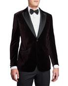Emporio Armani Men's G-Line Geo-Pattern Velvet Dinner Jacket