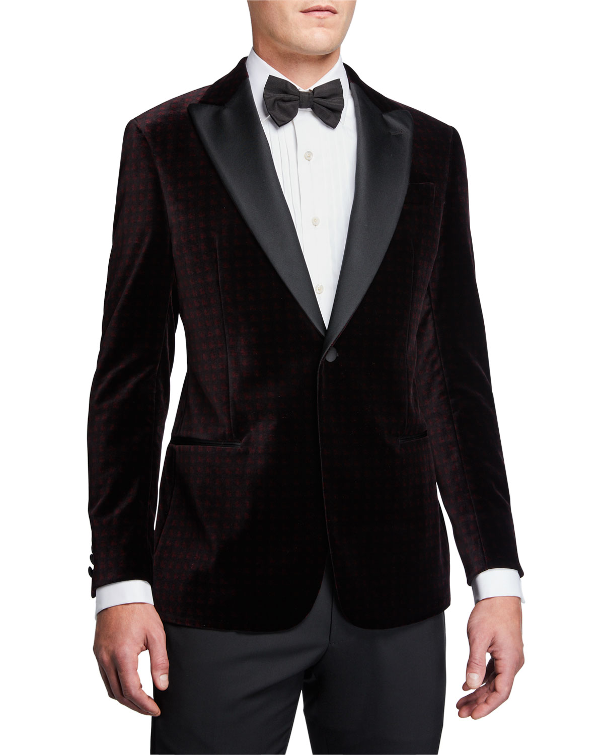 Emporio Armani Jackets MEN'S G-LINE GEO-PATTERN VELVET DINNER JACKET
