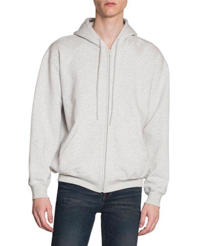 Men's Back-Logo Zip-Front Hoodie