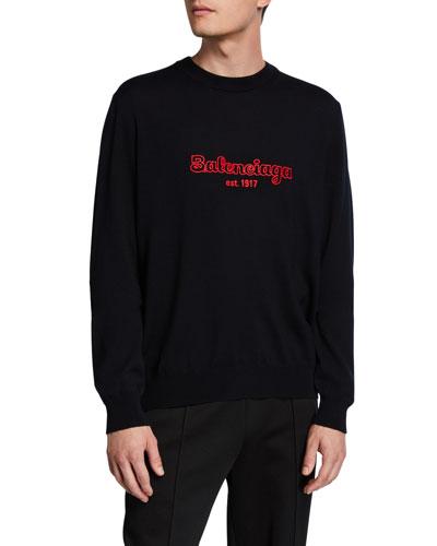 Men's Logo Embroidered Sweatshirt