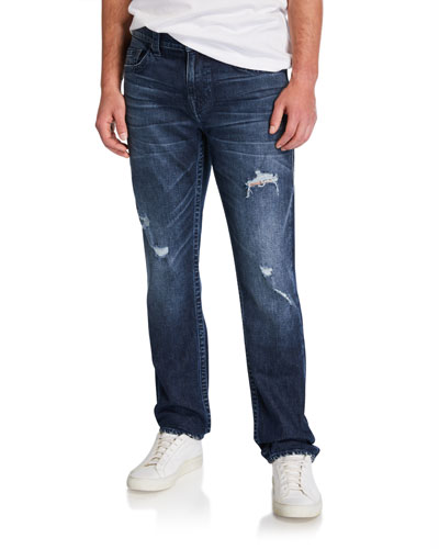 Men's Geno Distressed Straight-Leg Jeans