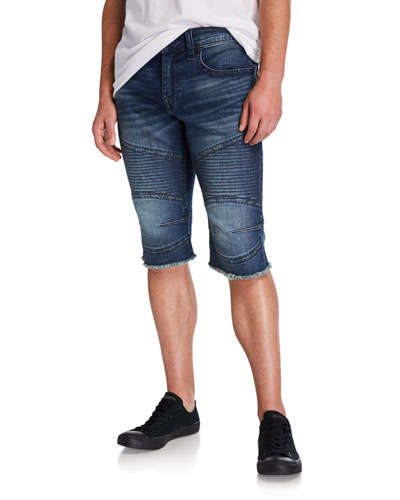 Men's Moto Slim Denim Shorts