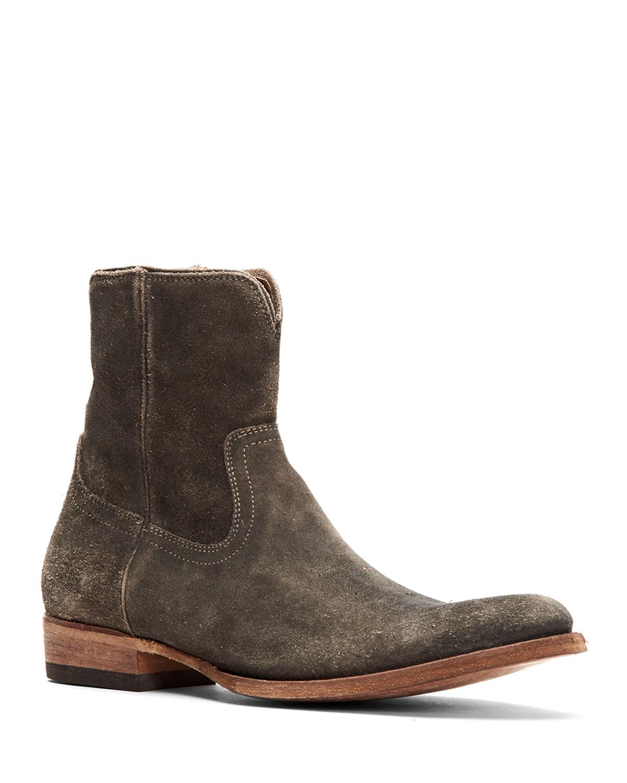 Men's Austin Distressed Suede Western Boots