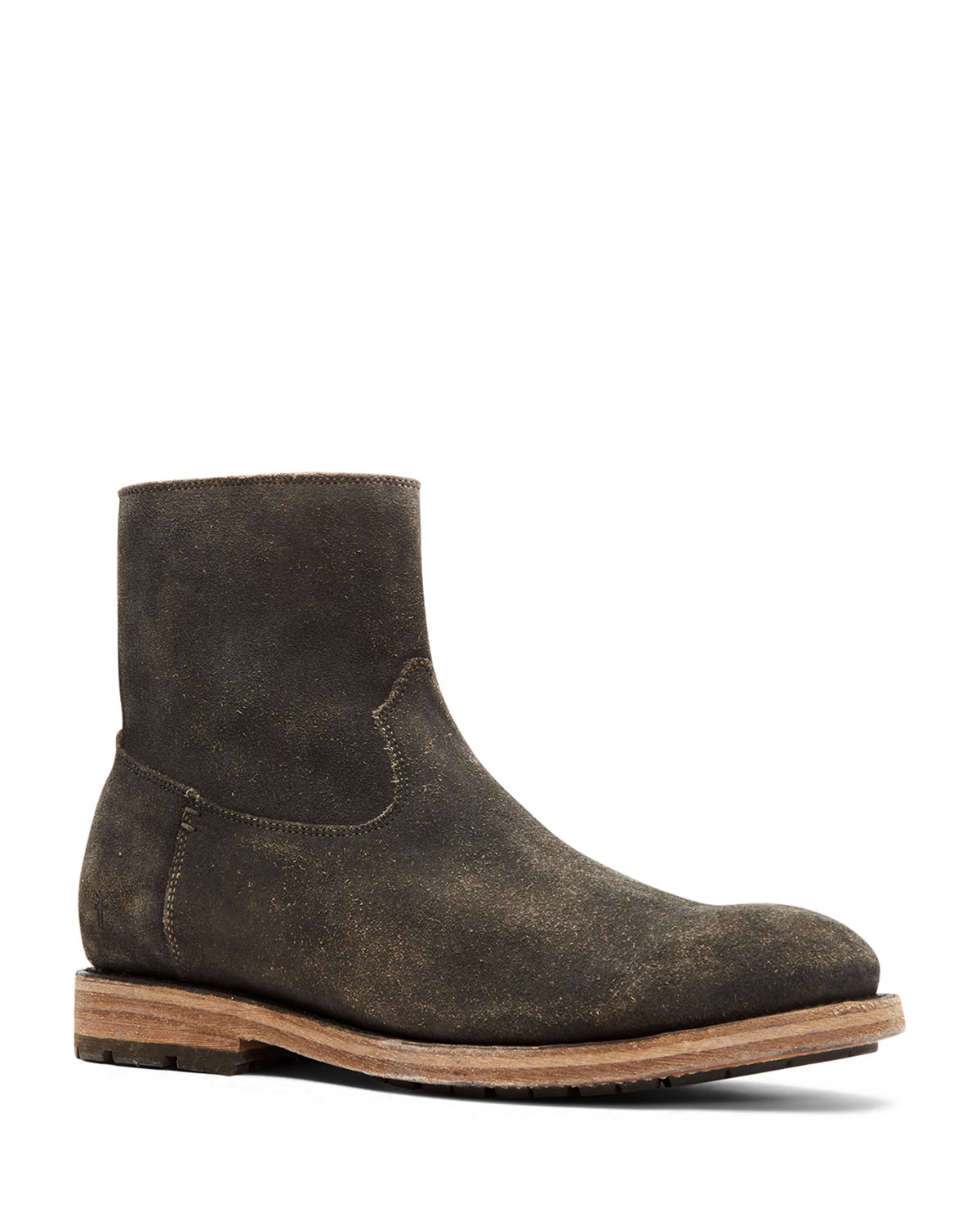 Men's Bowery Distressed Suede Ankle Boots