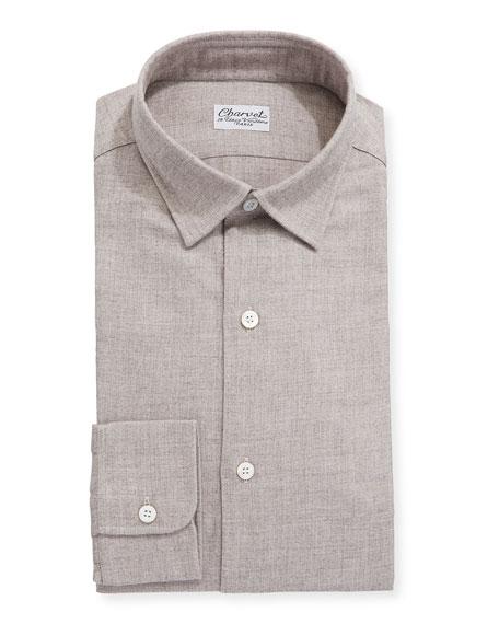 Charvet Men's Brushed Cotton/Wool Dress Shirt