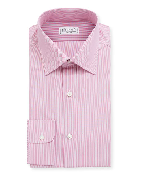Charvet Men's Stripe Cotton Dress Shirt