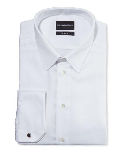 Men's New York Micro-Pattern Dress Shirt, White