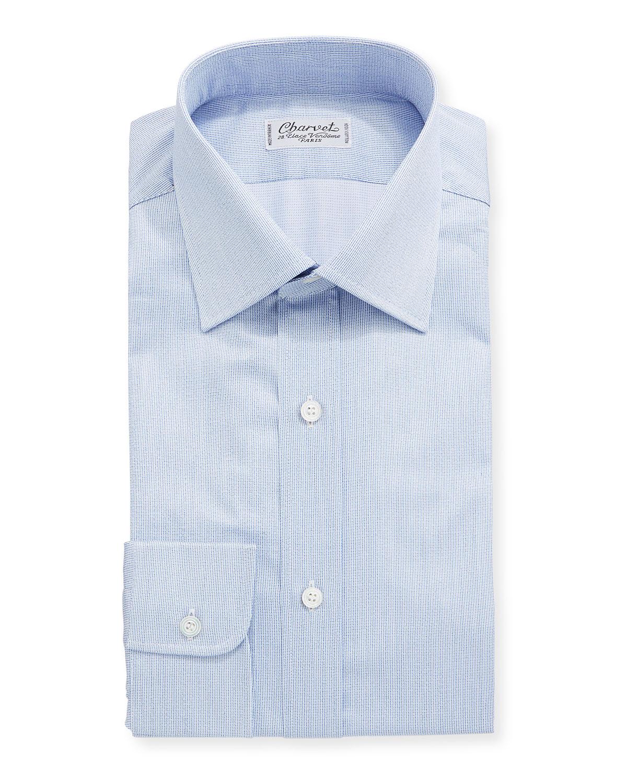 Charvet Dresses MEN'S COTTON DRESS SHIRT