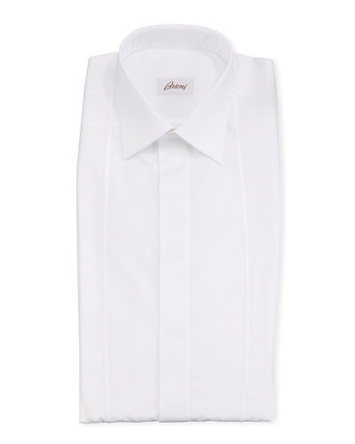 Men's Bib-Outline Formal Dress Shirt