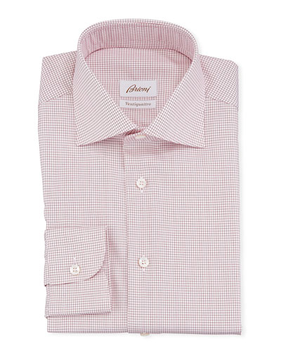 Men's Ventiquattro Graph Check Dress Shirt