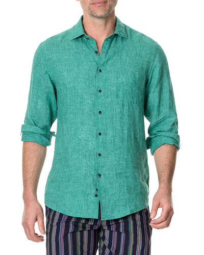 Men's Roverbend Faded Linen Sport Shirt