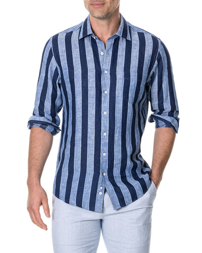 Men's Parsons Hill Striped Linen Shirt